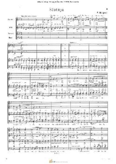 Slutnja; Mešani zbor