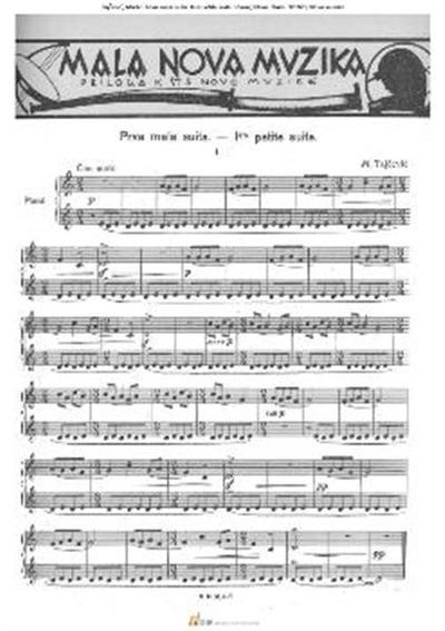 Prva mala suita. Iere petite suite. Piano; Klavir. Suita