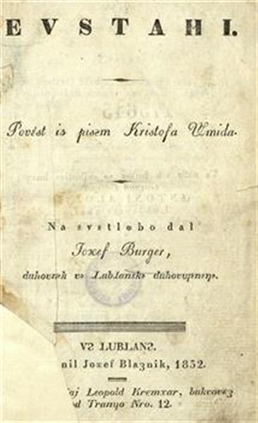 Image from object titled Evstahi; povést iz pisęm Kristofa Šmida