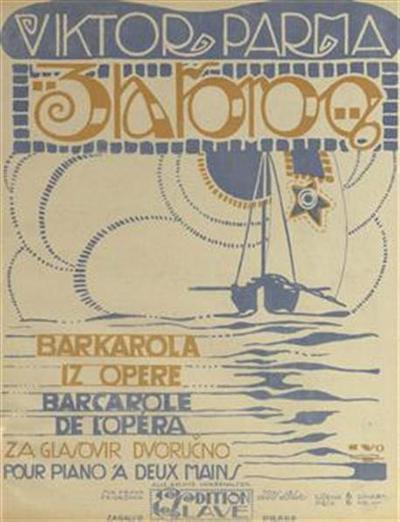 Zlatorog; barkarola iz opere; za glasovir dvoručno