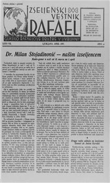 Image from object titled Izseljenski vestnik; glasilo Rafaelove družbe in izseljenske zbornice