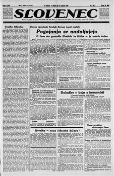 Image from object titled Slovenec: političen list za slovenski narod