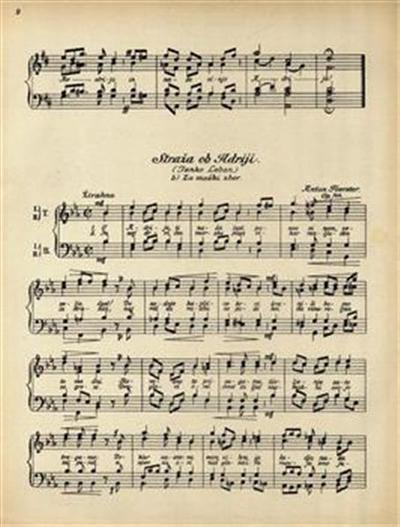 Image from object titled Straža ob Adriji, op. 144; moški zbor