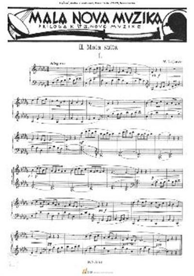 2. mala suita; Klavir. Suita