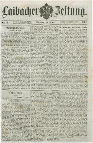 Image from object titled Laibacher Zeitung 1867 01 19