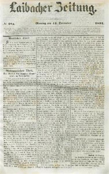 Image from object titled Laibacher Zeitung 1852 12 13