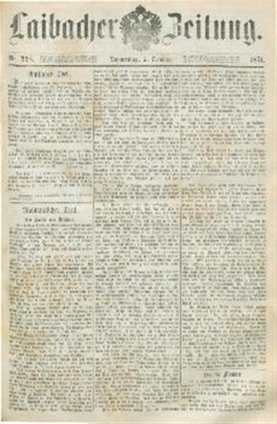 Image from object titled Laibacher Zeitung 1871 10 05