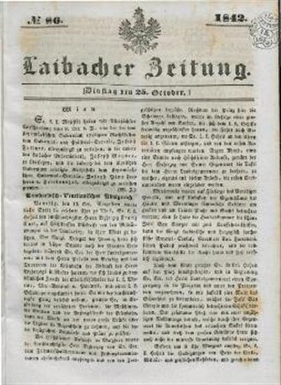 Image from object titled Laibacher Zeitung 1842 10 25