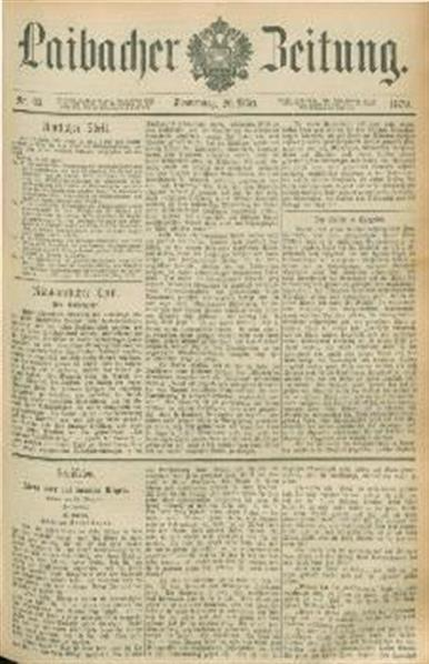 Image from object titled Laibacher Zeitung 1879 03 20