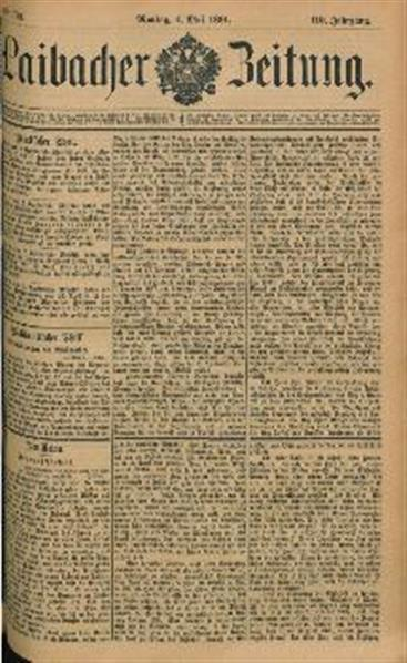 Image from object titled Laibacher Zeitung 1891 05 04