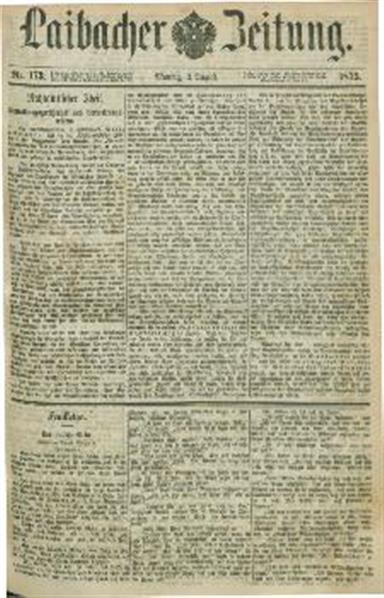Image from object titled Laibacher Zeitung 1875 08 02