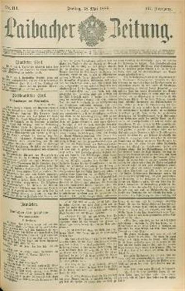 Image from object titled Laibacher Zeitung 1888 05 18