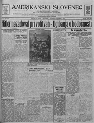 Image from object titled Amerikanski Slovenec