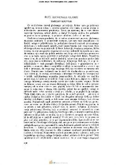 Image from object titled Poti slovenske glasbe
