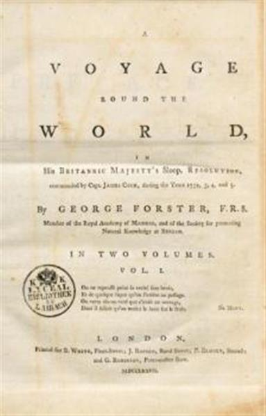 Image from object titled A voyage round the world, in his britanic Majesty' s sloop, Resolution, commanded by capt. James Cook, during the years 1772, 3, 4, and 5. In two volumes