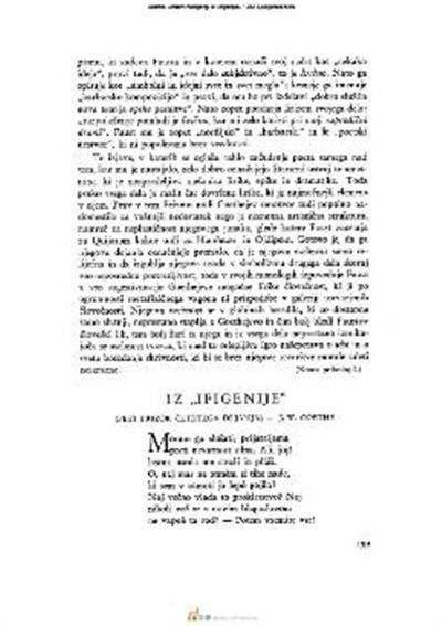 Image from object titled Iz »Ifigenije«