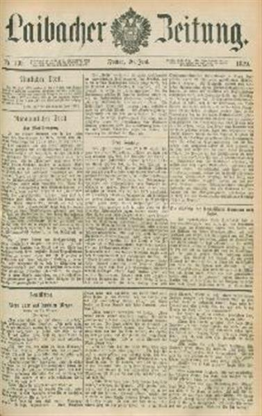 Image from object titled Laibacher Zeitung 1879 06 20