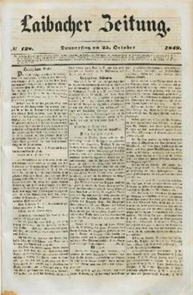 Image from object titled Laibacher Zeitung 1849 10 25