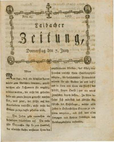 Image from object titled Laibacher Zeitung 1787 06 07