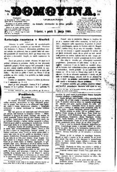 Image from object titled Domovina: list posebno za primorsko-deželne, pa tudi sploh slovenske zadeve