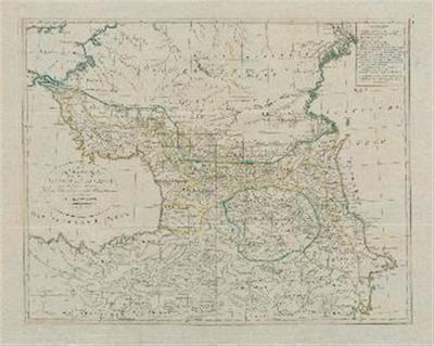 Image from object titled Karte der Länder am Caucasus nach den besten vorhandenen Karten, Reisen und astronomischen Ortsbestimmungen gezeichnet von I. C. M. Reinecke.