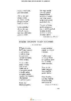 Image from object titled Pesem duhov nad vodami