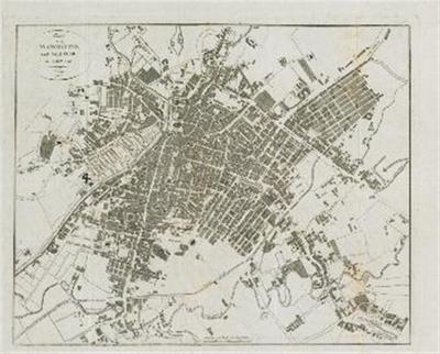 Image from object titled Plan von Manchester und Saalford in England