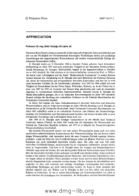 Image from object titled Appreciation : Professor Dr.-Ing. Bekir Dizioğlu, 60 Jahre alt