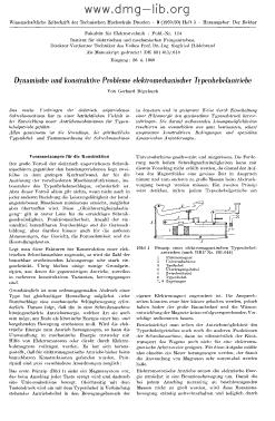 Image from object titled Dynamische und konstruktive Probleme elektromechanischer Typenhebelantriebe