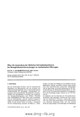 Image from object titled Über die Anwendung der Ballschen Schraubachsentheorie bei Beweglichkeitsuntersuchungen an mechanischen Führungen