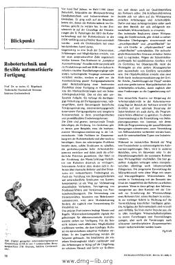 Image from object titled Robotertechnik und flexible automatisierte Fertigung