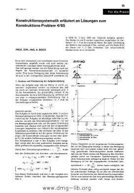 Image from object titled Konstruktionssystematik erläutert an Lösungen zum Konstruktions-Problem 4/65 : [Teil 1]