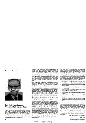 Image from object titled Zum 80. Geburtstag von Prof. em. Dipl.-Ing. A. Bock