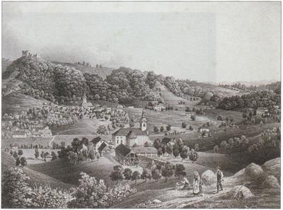 Kari Posti, Višnja gora, gvaš, 1864