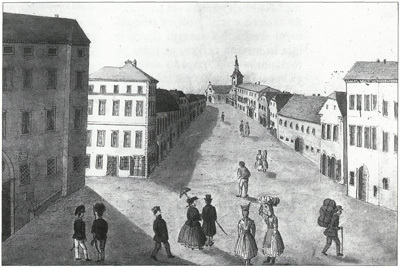 Kari Posti, Kočevje, gvaš, 1864