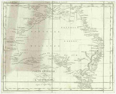Carte générale de l'Australie