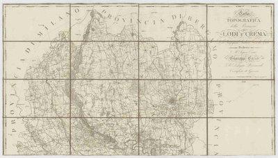 Carta topografica della provincia di Lodi e Crema