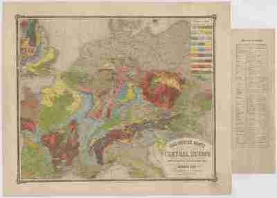 Geologische Karte von Central Europa
