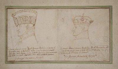 Rudolf II. při říšské a české korunovaci