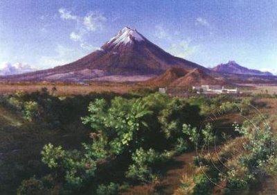 Mexická sopka Popocatépetl