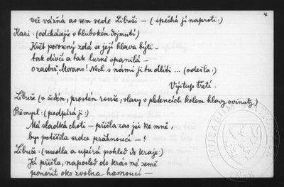 Kněžna Libuše, operní libreto - jednání třetí