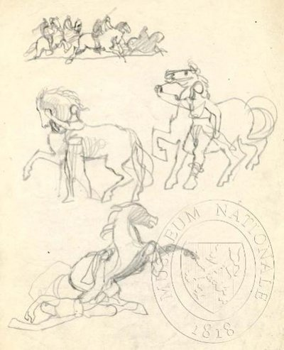 Studie postav a koní