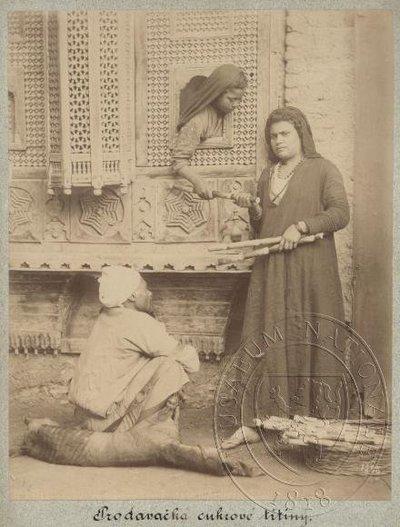 Prodavačka cukrové třtiny