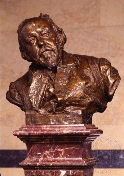 Mikoláš Aleš - busta v Pantheonu