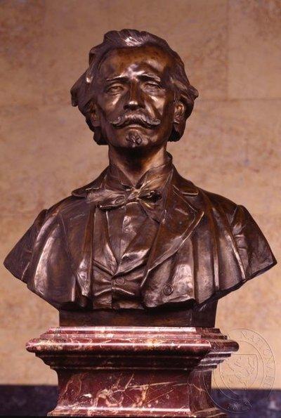 Josef Mánes - busta v Pantheonu