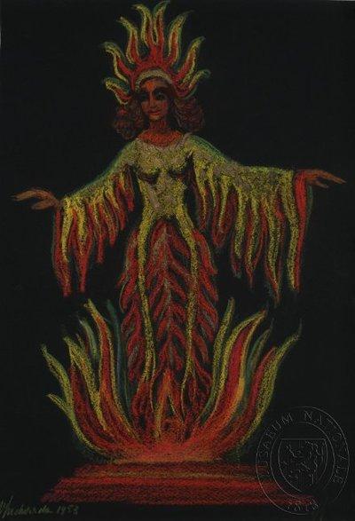 Návrh loutky - víla ohně