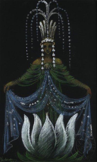Návrh loutky - víla vody