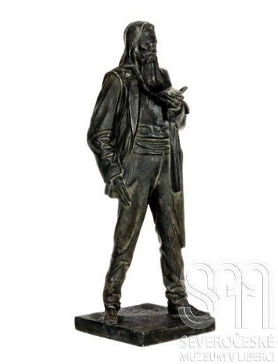 Stojící figura básníka Franze Stelzhammera