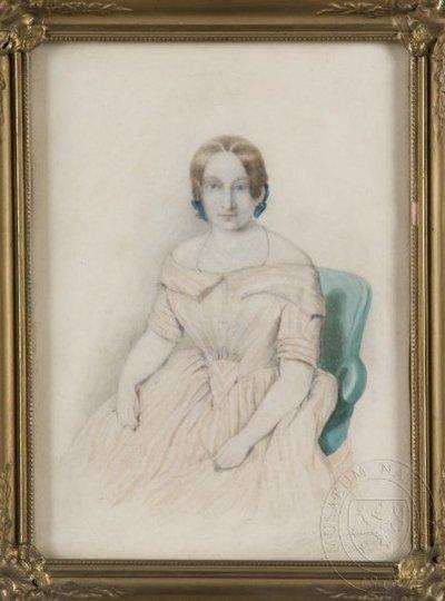 Image from object titled Neznámá žena sedící v křesle