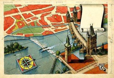 Ilustrace - Stará Praha
